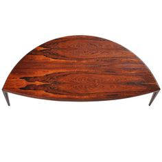 Johannes Andersen Rosewood Coffee Table Silkeborg 1960 | From a unique collection of antique and modern coffee and cocktail tables at http://www.1stdibs.com/furniture/tables/coffee-tables-cocktail-tables/