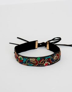 Beads embroidered choker - See all - Accessories - Woman - PULL&BEAR Spain