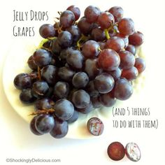 Introducing Jelly Drops Grapes, a delicious cross between Thompson Seedless and Concord Grapes | 5 things to do with them. ShockinglyDelicious.com