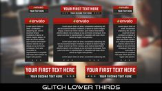 Buy Glitch Lower Thirds by MondayMotion on VideoHive. Lower Thirds, Text You, Glitch, Caption, Presentation, 10 Seconds, Technology, Flat, Elegant