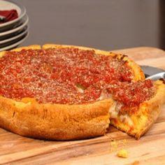 Chicago Deep Dish Pizza Recipe with pizza dough recipe