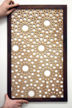 Naked Geometry - Woven Sevens Islamic Art Screen Decorative Metal Screen, Decorative Panels, Jaali Design, Arabic Pattern, Room Screen, Ramadan Decorations, Decoupage Vintage, Metal Wall Decor, Hand Embroidery Designs