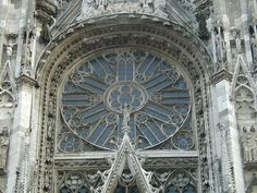 Rouen Cathedral: south rose window.