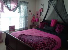 Girls Bedroom Zebra zebra+bedroom+ideas | zebra hot pink room, hot pink walls with