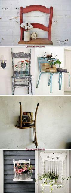 Reciclar Sillas: 10 objetos y 30 ideas distintas