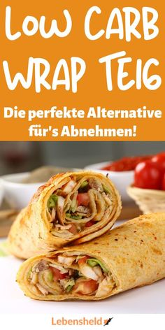 Low carb Wrap Teig – Super lecker und schnell – Low Carb Held – Low carb Rezepte – Home Recipe High Protein Low Carb, Low Carb Keto, Law Carb, Low Carb Wraps, Menu Dieta, No Carb Diets, Keto Dinner, Diet And Nutrition, Slow Cooker Recipes