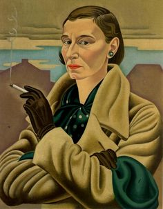Self Portrait (1936-37) by New Zealand painter Rita Angus (1908-1970).