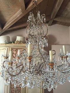 This chandelier is a special big beaded beauty