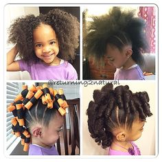 Very cute little girl fauxhawk.  Protective Natural Hair Styles @protectivestyles Instagram photos