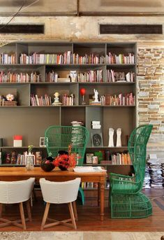 dining room color inspiration. wood table, ming green painted chairs.  (same green as the living room nook?)