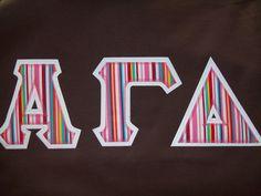 #DesignerGreek #AlphaGammaDelta #greekletters #funstripes #collegeapparel