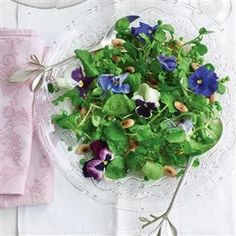 Watercress, pea and almond salad from Delicious Magazine (UK), April 2011