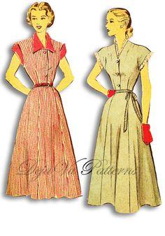 Advance 4894 Vintage 1950s Dress Sewing Pattern by DejaVuPatterns