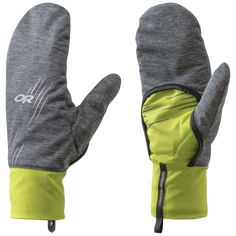 Overdrive Convertible Gloves - charcoal heather/lemongrass | Outdoor Research