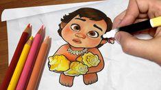 Como desenhar a MOANA [bebê] | Passo a passo #67