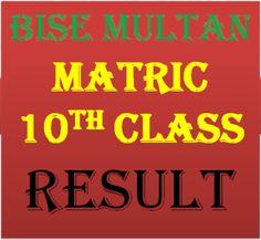 Matric Result 2016 Multan Board