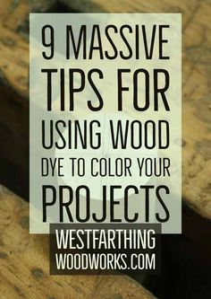 This is 9 Massive Tips for Using Wood Dye to Color Your Projects. In this post, I'll show you several tips on using dye stains that will make the process easier, more enjoyable, and give you a higher… Woodworking Education, Small Woodworking Projects, Small Wood Projects, Woodworking Garage, Fine Woodworking, Woodworking Hacks, Woodworking Beginner, How To Make Rings, Cool Things To Make