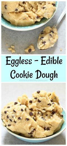 Edible Eggless Cookie Dough Recipe #cookiedough #yum #dessert