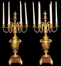 19th Century Louis XVI St. Ormolu And Marble Candelabras