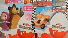 Lidl Akcia Kinder Surprise Máša a medveď Racing Cars 4-balenie