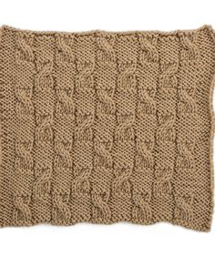 Checkerboard Cables Square for Knit Your Cables Afghan
