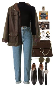 """""""Untitled #10333"""" by nikka-phillips ❤ liked on Polyvore featuring ASOS, Chloé, Barbour, Shinola, Again and Ray-Ban"""