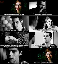 Remember I loved you. ~Stiles I think I loved him. Teen Wolf Stydia, Teen Wolf Mtv, Teen Wolf Funny, Teen Tv, Teen Wolf Boys, Teen Wolf Dylan, Teen Wolf Stiles, Teen Wolf Cast, Dylan O'brien