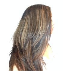 Aveda brown highlights on black hair roots probably a - Addiction hair salon ...