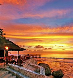 Sunset, sand and a drink in hand. #Bali