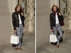 Top: H // Bottoms: Zara // Cardigan: Marc Jacobs Kids // Jacket: Mine // Gentleman's slippers: Stevens //