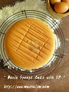 Sponge cake with SP สูตรนี้เป็นสูตรยอดฮิตในห้องก้นครัวของเวป pantip  สามารถปรับเปลี่ยนไปทำเค้กอื่น ๆ ได้อีกนานาชนิดเลยค่ะ