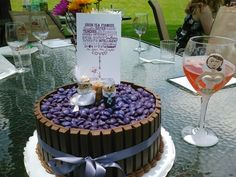 Wine barrel cake with cork bride and groom