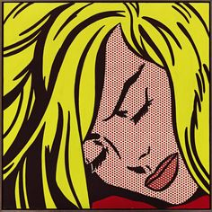 """Roy Lichstein's """"Sleeping Girl"""", 1964, sold for a new record for the artist at Sotheby's, New York"""