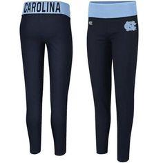 North Carolina Tar Heels (UNC) Ladies Pivot II Yoga Leggings - Navy Blue/Carolina Blue