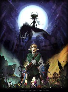 Legend of Zelda fan art, Link & Midna