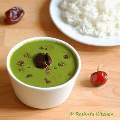 Roshni's Kitchen: Mor Keerai - Spinach cooked in a coconut and yogurt sauce - Spinach Soup