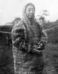 A finely stitched gut parka. Kodiak, 1919.♀️INUIT  ART / NATIVE AMERICAN ART  More Pins Like This At FOSTERGINGER @ Pinterest♀️