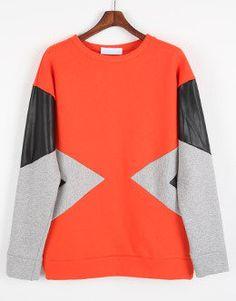 faux leather sweat shirt / ShopStyle: ファッションウォーカーコリアンナセレクト