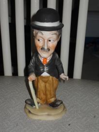Vintage Charlie Chaplin Porcelain Figurine