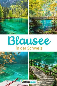 Fascinating Blausee in Switzerland Urlaubsguru.de - The Blausee is one of the most famous mountain lakes in all of Switzerland. One look at these pictu - Thailand Travel, Japan Travel, Travel Usa, Travel Money, Philippines Travel, Budget Travel, Europe Destinations, Places In Switzerland, Places To Travel