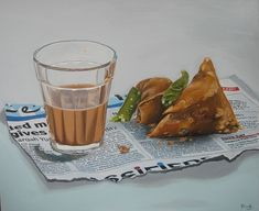 &  & bhi koi sawaal hua&  & ek masala chai aur ek strong coffee le aana&  & The post Chai ya coffee? appeared first on Stagbite. Bd Art, Indian Illustration, Food Graphic Design, Food Sketch, Indian Art Paintings, Oil Paintings, Still Life Drawing, Object Drawing, Food Painting