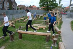 Playground Build & Design | Natural Child Play | Earth Wrights Ltd. Really like this style