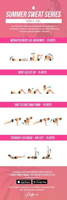 summer sweat series week 3 abs