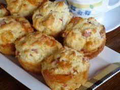 Smoked Ham and Cheese Muffins Cake Recipes, Snack Recipes, Cooking Recipes, Food Network Recipes, Food Processor Recipes, Cyprus Food, Cheese Muffins, Smoked Ham, Ham And Cheese