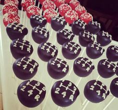 Gear shift chocolate covered cake pops and chocolate covered Oreos made to look like tires!