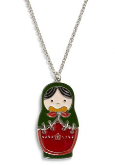 Doll of Your Dreams Necklace - Multi, Casual, Folk Art