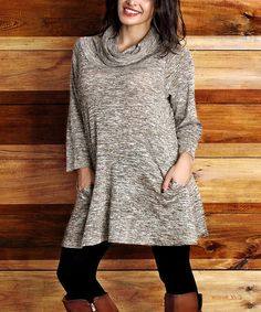 Another great find on #zulily! Oatmeal Melange Convertible Tunic - Plus #zulilyfinds