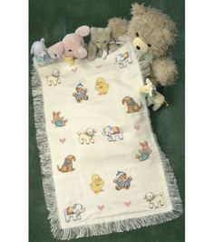 Dimensions® Counted Cross Stitch Kit-Sweet Animal Afghan, , hi-res