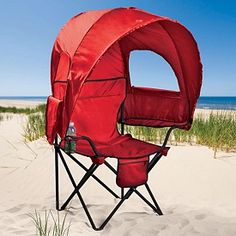 Camp Chair with Canopy  - where can I find one of these? This is awesome for soccer or other outdoor sports watching.