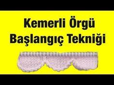 Örgü ile Kemer Delikli Bordür Yapımı - Örgü Teknikleri - YouTube